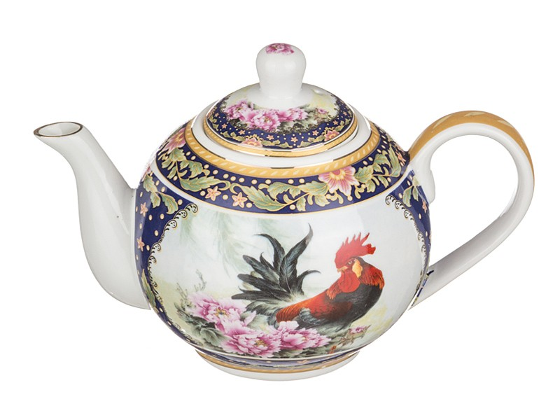 Заварочный чайник Петух и цветы
