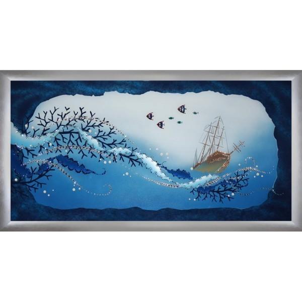 Картина с кристаллами Swarovski Подводный мир