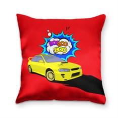 Подушка 3D Subaru Impreza красного цвета