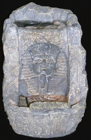Декоративный фонтан Египетские мотивы. Маска фараона с подсветкой