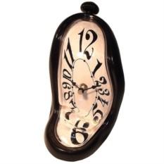 Настольные стекающие часы в черном корпусе