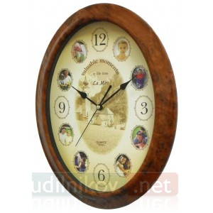 Часы настенные с фоторамками Драгоценные Моменты