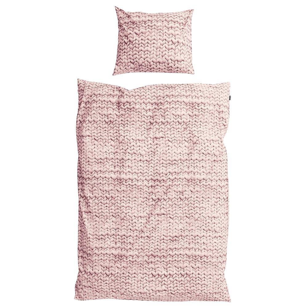 Розовый комплект постельного белья Косичка