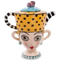 Желтый чайный набор Pavone Дама