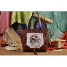 Женская сумка-шопер с принтом Милый совенок