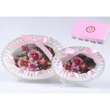 Конфетница из 2  шт.Букет роз