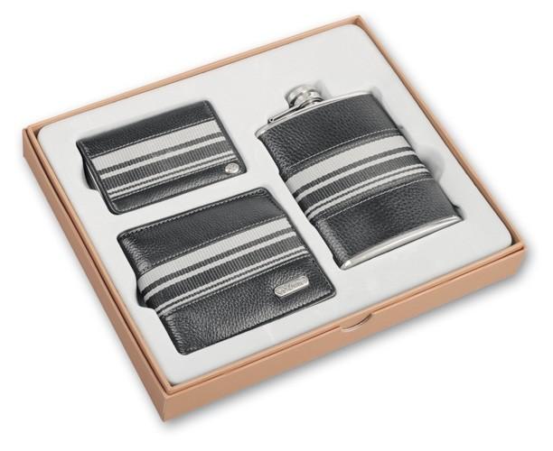 Набор S.Quire: портмоне, визитница, фляга (кожа)