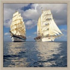 Постер Морские путешествия. Два парусника