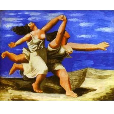 Репродукция картины Женщины, бегущие по берегу