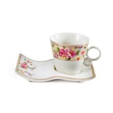 Чайный набор Цветочный каприз (чашка, блюдце)