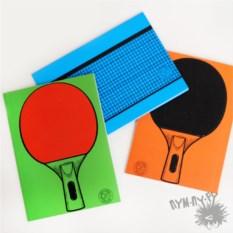 Набор из 3 блокнотов Пинг-понг