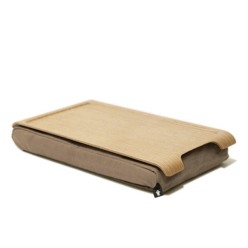 Подставка с деревянным подносом Laptray (песочная)
