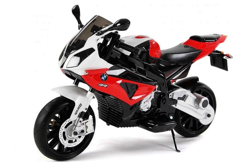 Красный детский электрический мотоцикл BMW JT528