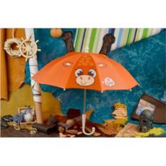 Детский оранжевый зонт Eclat Жирафик с рожками