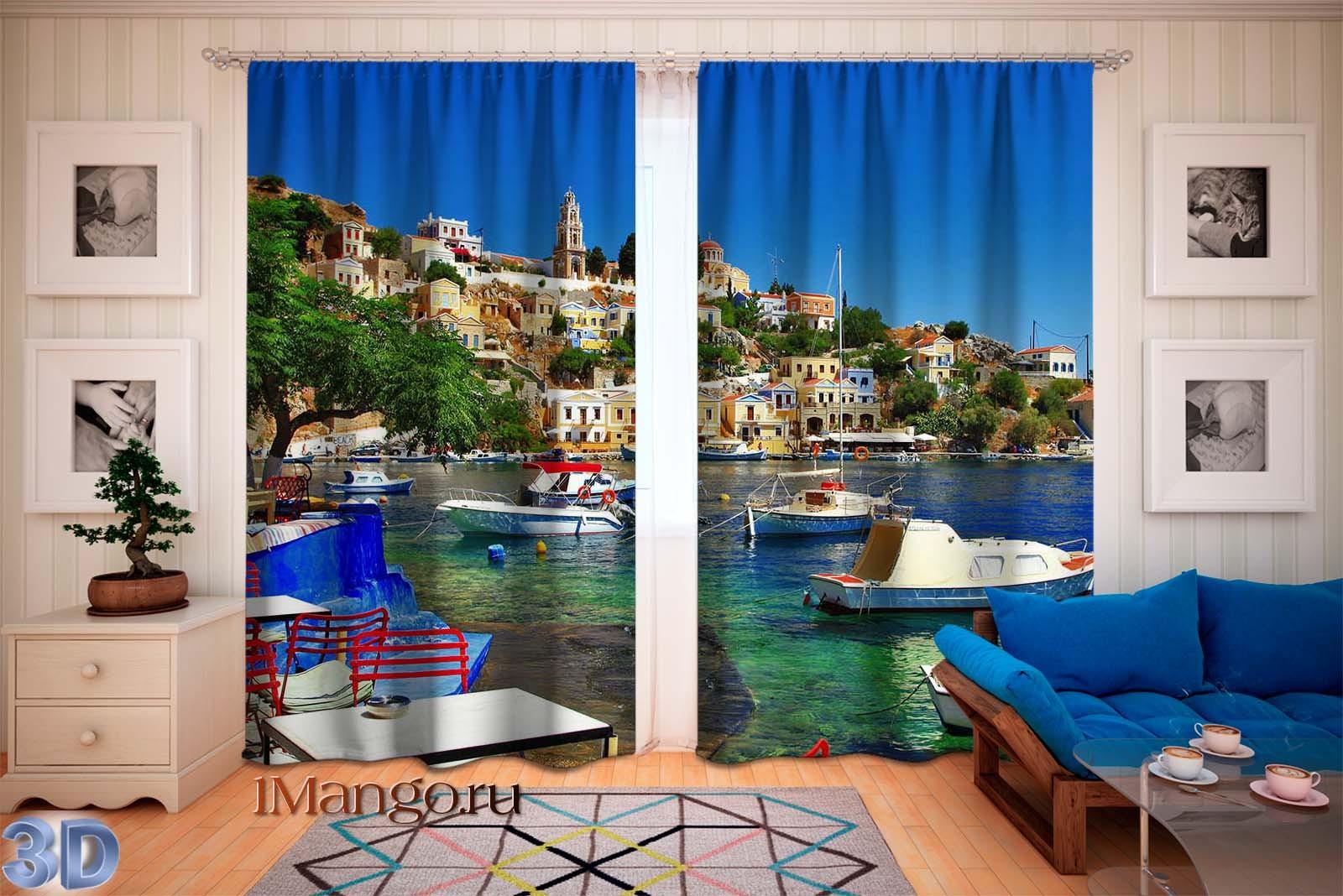 Фотошторы Красочная Греция