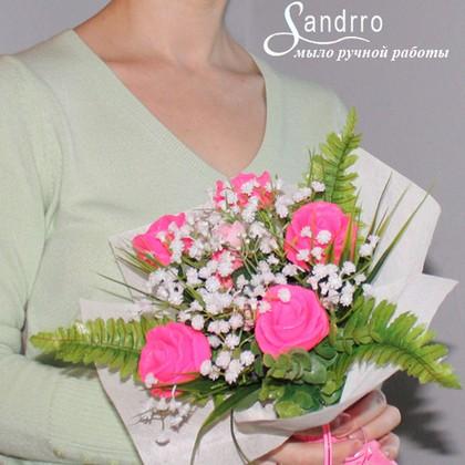 Цветы из мыла «Розовые розы»