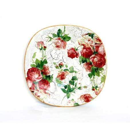 Декоративная тарелка «Английская роза»