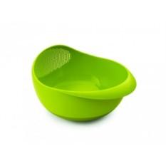 Большая зеленая миска-дуршлаг  Prep & serve