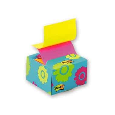 Блок-куб в картонном дисплее настольный цветы