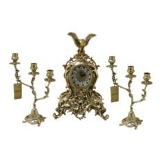 Каминные часы с канделябрами Цезарь