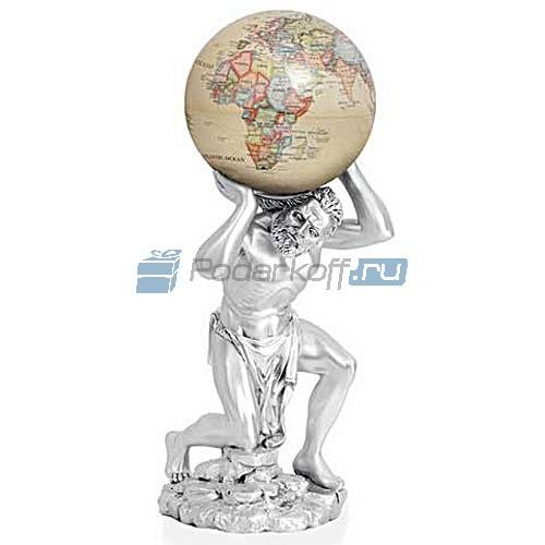 Скульптура Атлант, покрытие серебро 925 пробы