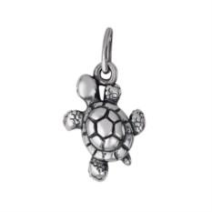 Серебряная подвеска в виде черепашки
