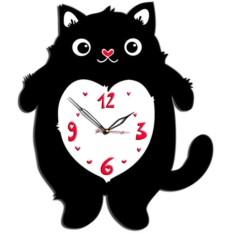 Настенные часы Кот с сердцем