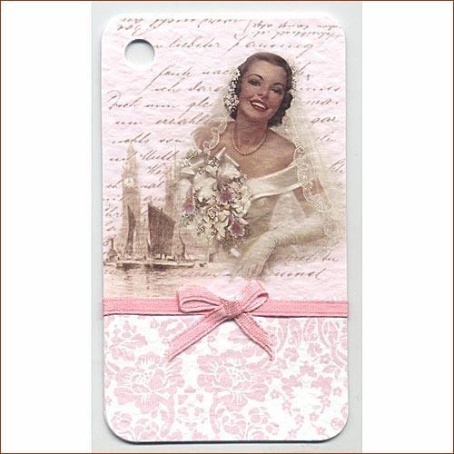 Мини-открытка ручной работы С Днем свадьбы!
