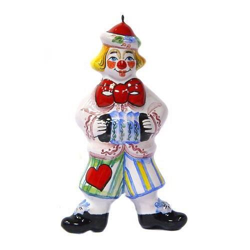 Ёлочная игрушка Клоун с гармошкой