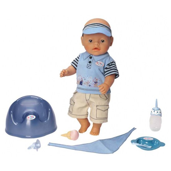 Кукла Zapf Creation Кукла-мальчик Покорми меня, 43 см