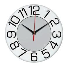 Настенные часы с серым центром