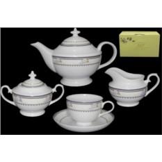 Фарфоровый чайный сервиз 17 предметов Райский сад