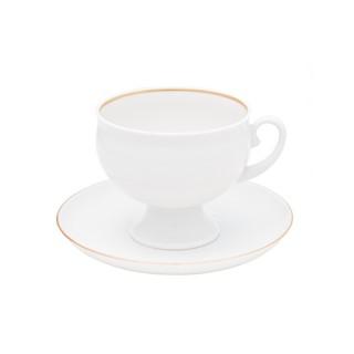 Чашка с блюдцем из фарфора