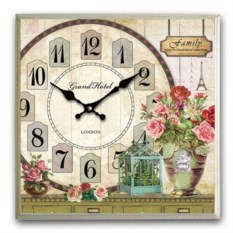 Большие настенные часы-картина