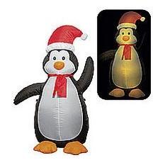 Надувная фигура Новогодний пингвин