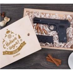 Именной шоколадный пистолет «Новый год»