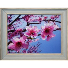Картина с кристаллами Swarovski Ветка яблони