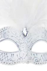 Карнавальная маска для взрослых Венеция, белая