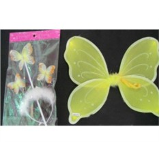 Карнавальный набор Крылья бабочки, обод-рожки и палочка