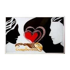 Картина Swarovski Два сердца