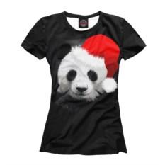 Женская футболка Панда в колпаке