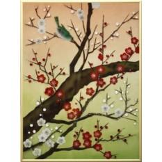 Картина Swarovski Сакура цветет 1, 1369 кристаллов, 30х40