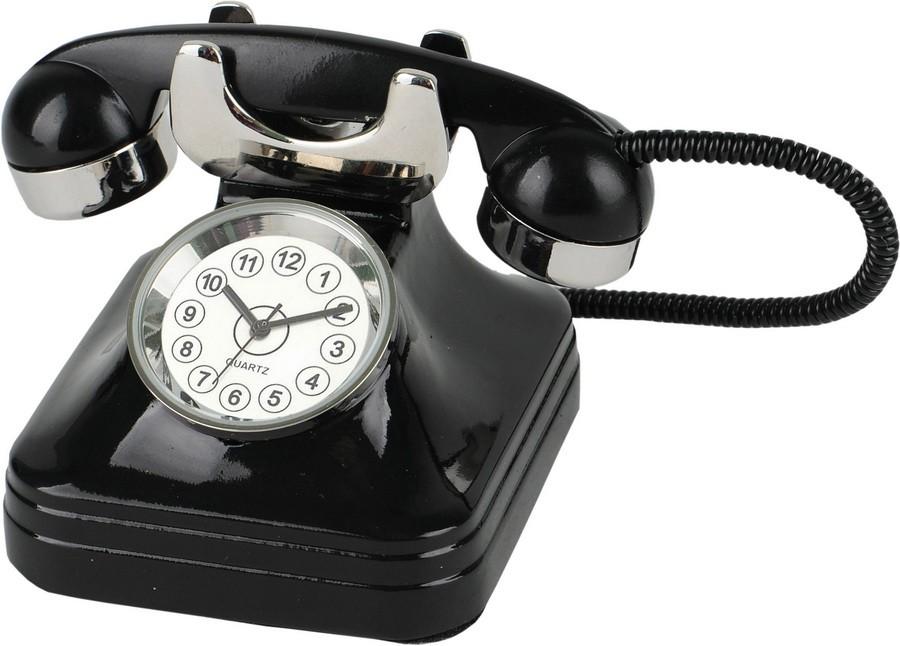 Часы в виде ретро-телефона