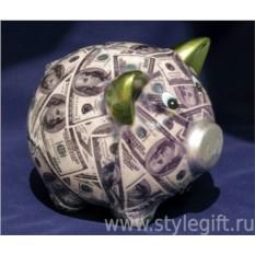 Копилка Свинка-доллар