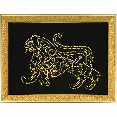Хрустальная картина «Персидские мотивы. Лев»