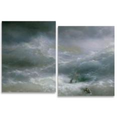 Модульная картина Айвазовский. Волна