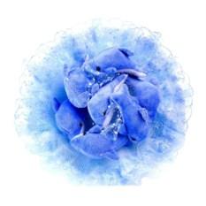 Букет из мягких игрушек Дельфины голубого цвета