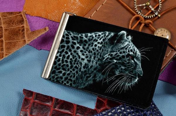 Зажим для денег Леопард