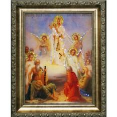 Икона Всех скорбящих радостей с кристаллами Swarovski