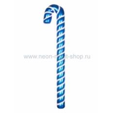 Елочная игрушка Карамельная палочка сине-белого цвета